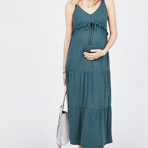 Octavia Maternity Tiered Maxi Sleeveless Dress S